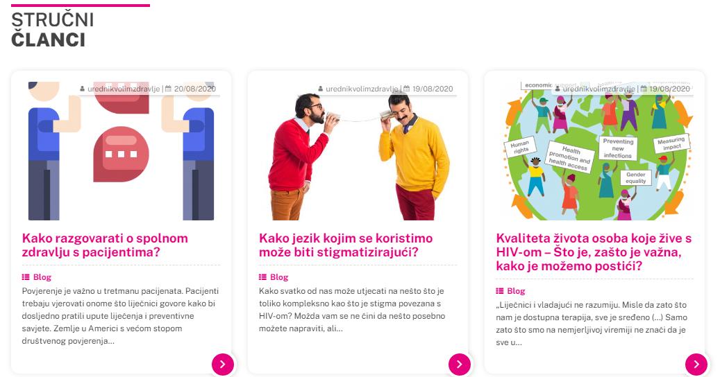 Homepage articles display